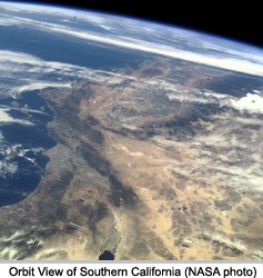 Southern California from orbit (NASA photo)