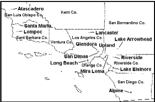 map of the CHS study sites - click on the map to see a larger map