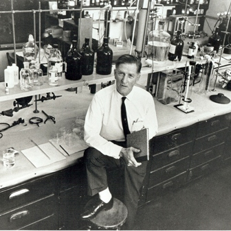 Dr. Haagen-Smit in a lab